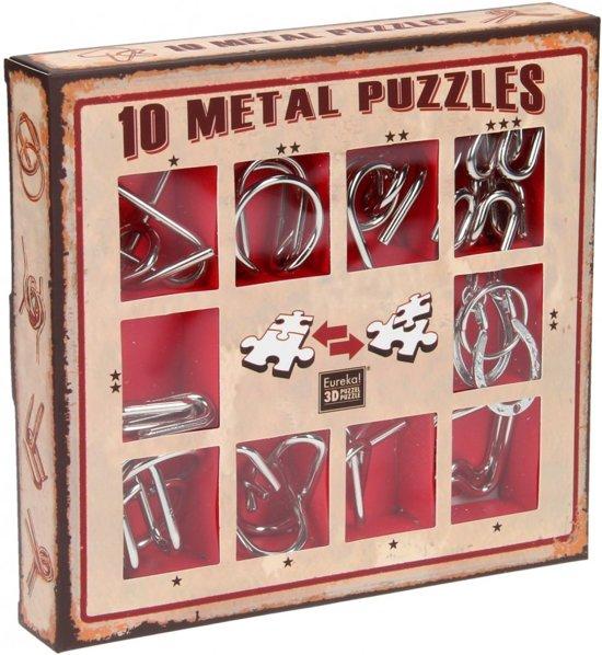 Afbeelding van het spel Eureka 10 Metal Puzzles Set  Red