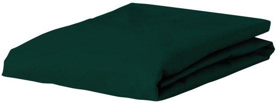 Essenza Satin - Hoeslaken - Eenpersoons - 80x200 cm - Pine Green