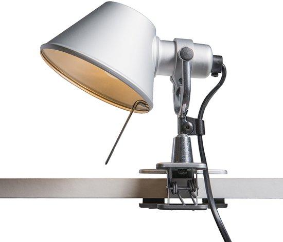 artemide tolomeo micro pinza bureaulamp 1 lichts h 200 mm aluminium. Black Bedroom Furniture Sets. Home Design Ideas