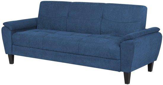 Beliani Halmstad Slaapbank Blauw Stof 110x182