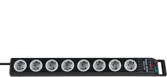 Brennenstuhl Super-Solid-Line 8-voudige stekkerdoos - zwart - 2,5 meter