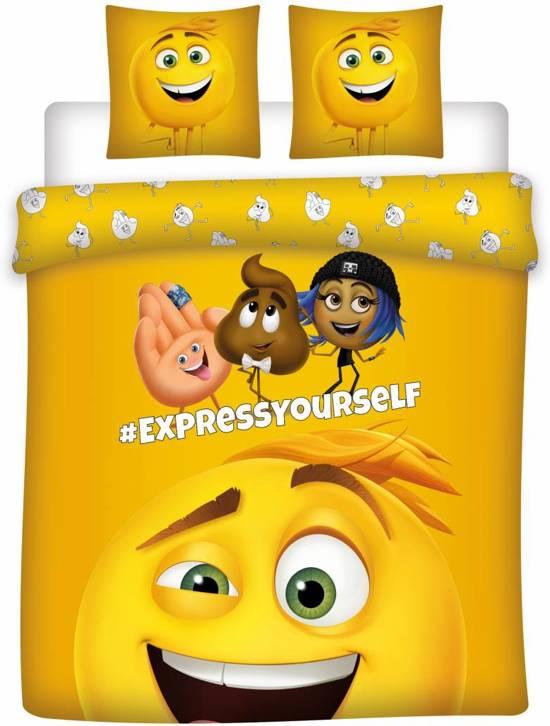 Emoji The movie - Dekbedovertrek - Lits Jumeaux - 240 x 220 cm - Geel