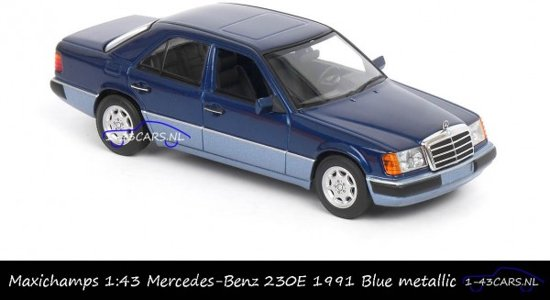 Mercedes - Benz 230E ( W124 ) Limousine 1991 Blauw 1-43 Maxichamps