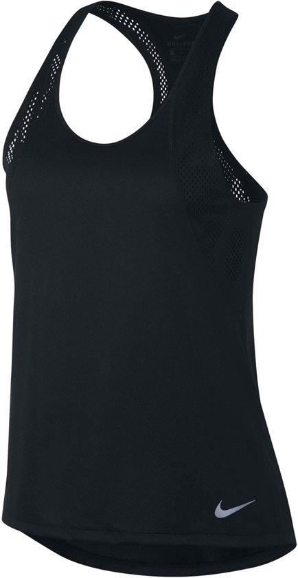 Nike Running Tanktop  Sportshirt performance - Maat M  - Vrouwen - zwart