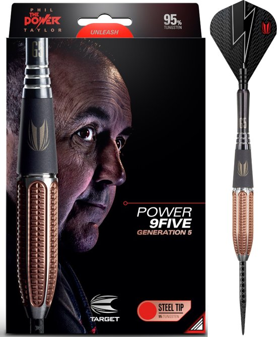 Target Steeltip Phil Taylor Power 9FIVE Gen.5 95% 24 gram Dartpijlen