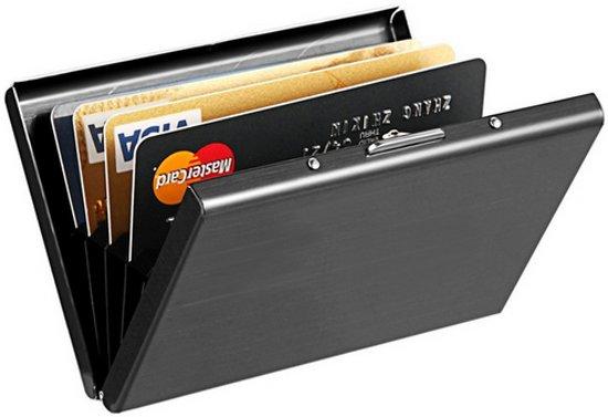 Metalen RFID proof betaalpas houder doosje / Creditcards Pinpassen / Roestvast staal RVS / HaverCo