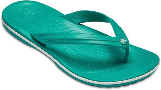 Crocs Crocband Flip slippers Slippers - Maat 38/39 - Unisex - blauw/groen