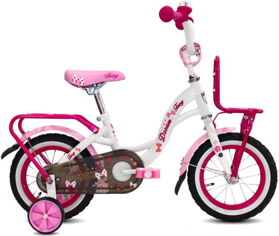 f21470396d0117 bol.com | Troy Dream Kinderfiets 12 inch - Wit-Roze