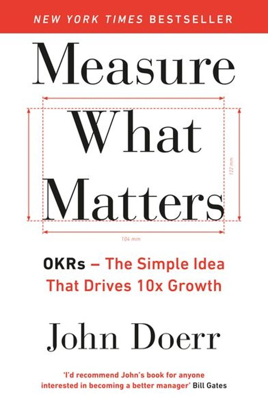 Boek cover Measure What Matters van John Doerr (Onbekend)