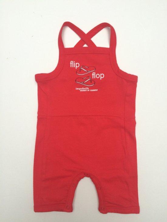 Imps&Elfs - jumpsuit rood - maat 68
