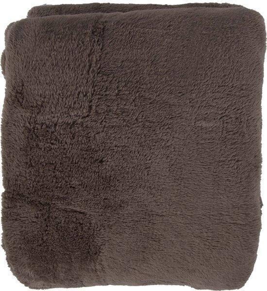 bol teddy fluffy plaid fleece 150 x 200 cm taupe