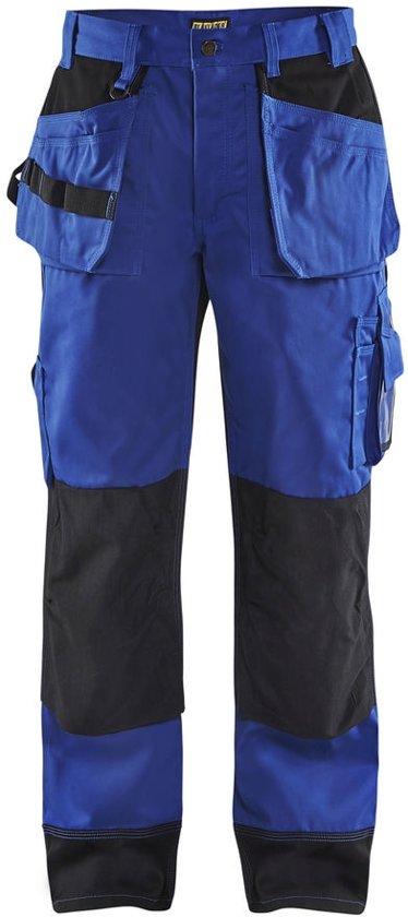 Blaklader Werkbroeken met kniestukken Korenblauw/ZwartNL:50 BE:44