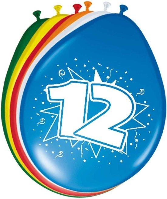 Beste bol.com   8x stuks Ballonnen versiering 12 jaar BB-28