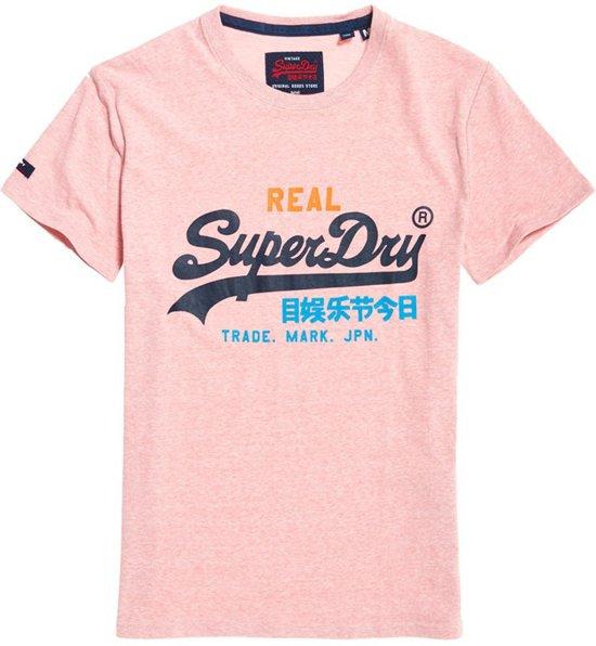 | Superdry T shirt Roze Met Logo (M10157IU T4R) M