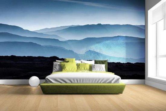 Silhouette van bergen Fotobehang 380x265