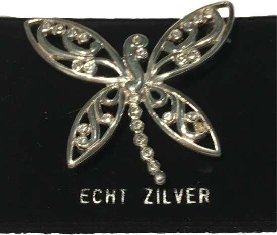 Petra's Sieradenwereld - Zilveren broche vlinder (50930249)