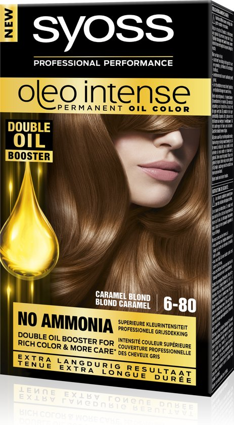 SYOSS Color Oleo Intense 6-80 Caramel Blond Haarverf - 1 stuk