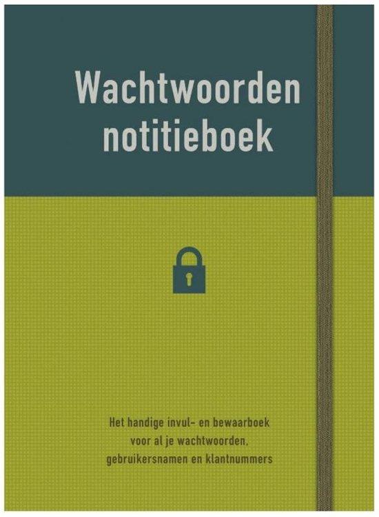 Fonkelnieuw bol.com | Wachtwoorden notitieboek WZ-86
