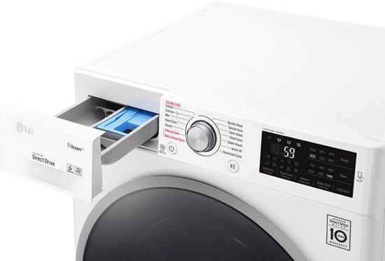 LG F4J7TY1W wasmachine Vrijstaand Voorbelading Wit 8 kg 1400 RPM A+++-40%