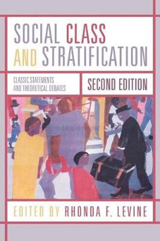 karl marx stratification