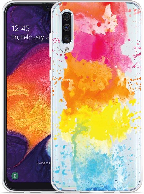 Galaxy A50 Hoesje Color Splatters