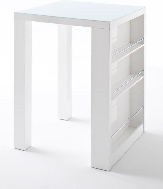Hoogglans Wit Bartafel.Bol Com 24designs Royal Glass Bartafel Wit 80x80 Cm