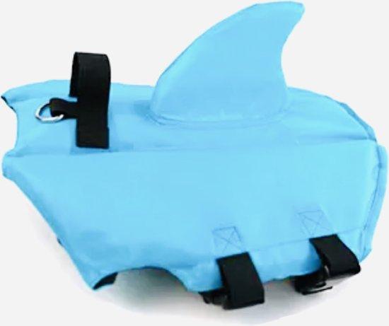 """Honden zwemvest """"Haai"""" - Zwemvest voor honden - Blauw - Maat S"""