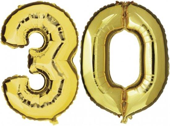 ballonnen 30 jaar bol.| 30 jaar folie ballonnen goud, Fun & Feest Party Gadgets  ballonnen 30 jaar