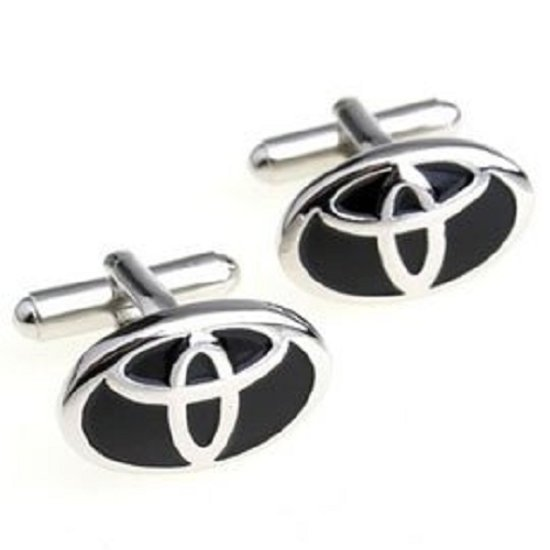Manchetknopen Auto Toyota Zilverkleurig Zwart