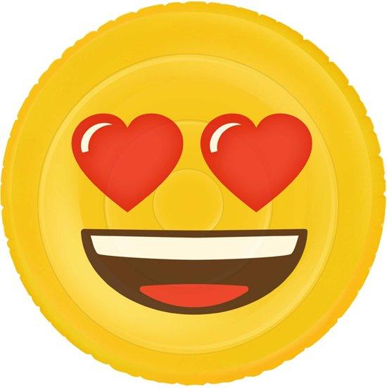 Opblaasbaar Figuur Emoji Face Hearts 140cm
