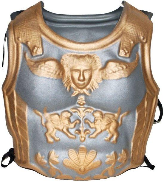 Romeinse harnas zilver/goud