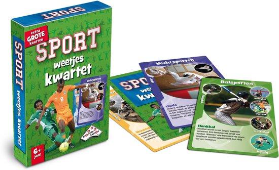 Thumbnail van een extra afbeelding van het spel Sport Weetjeskwartet - Kaartspel - Special Edition