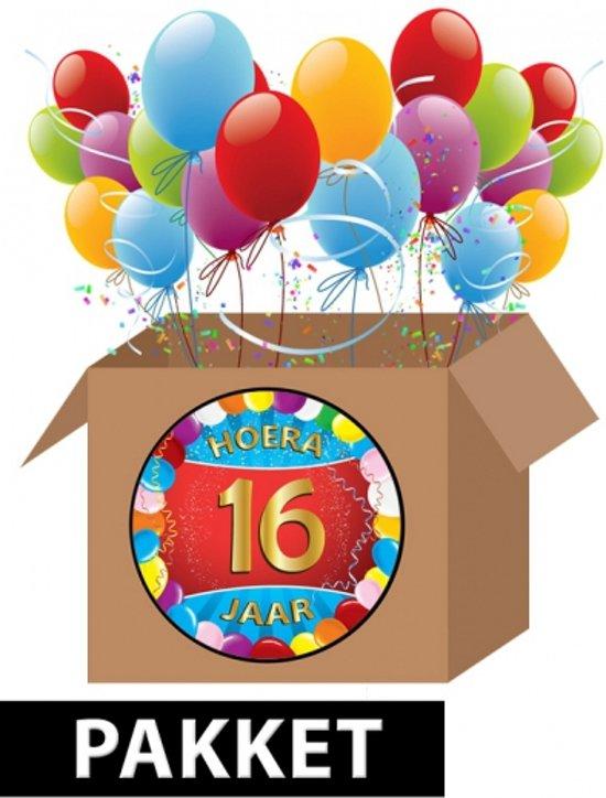 afbeelding 16 jaar bol.| 16 jaar versiering voordeel pakket, Fun & Feest Party  afbeelding 16 jaar