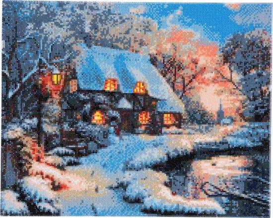 Bol Com Diamond Painting Crystal Art Winter Cottage