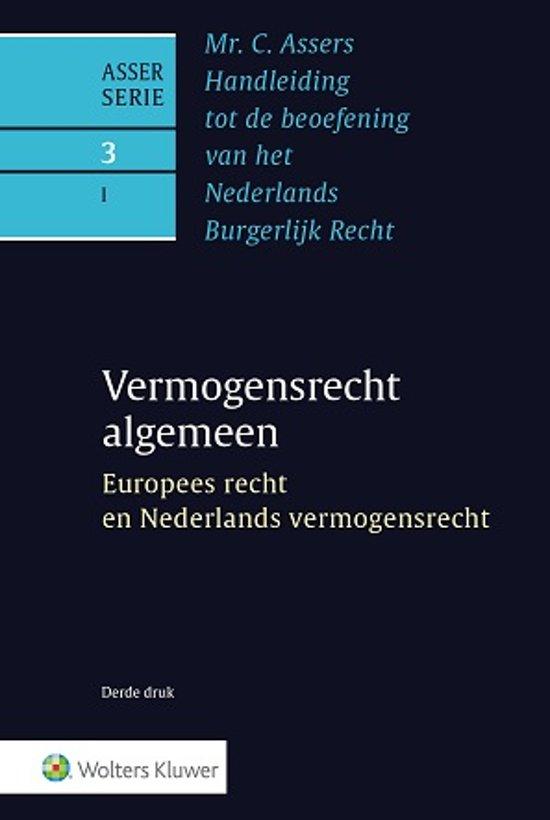 Asser 3 I Europees recht en Nederlands vermogensrecht