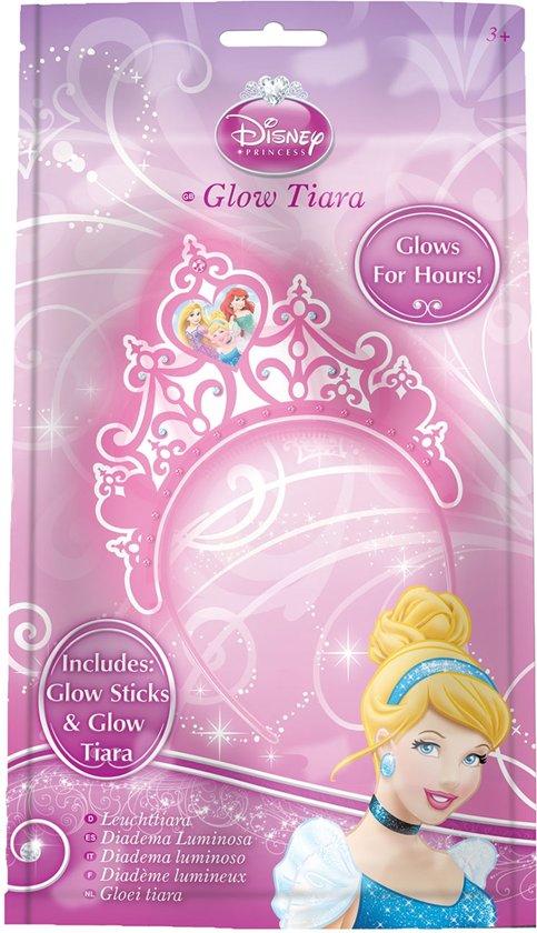 Princess Glow Tiara Diadeem – 25x20cm | Prinsessen Kroon met Glowsticks | Lichtgevende Haarband