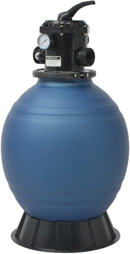 vidaXL Zwembad zandfilter 18 inch/460 mm rond blauw