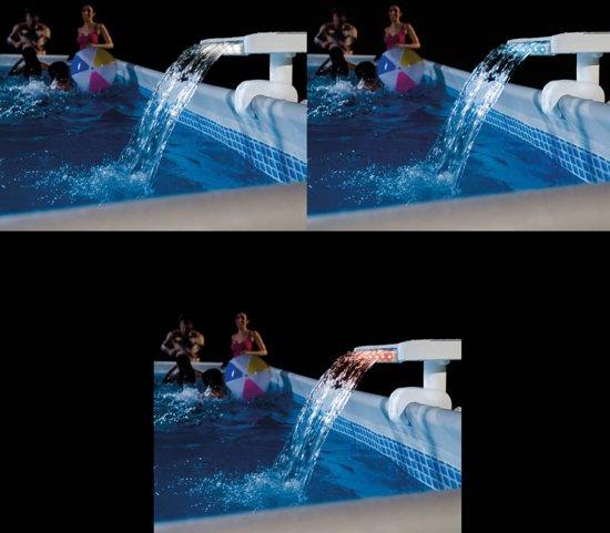 Intex Zwembad LED-waterval meerkleurig 28090