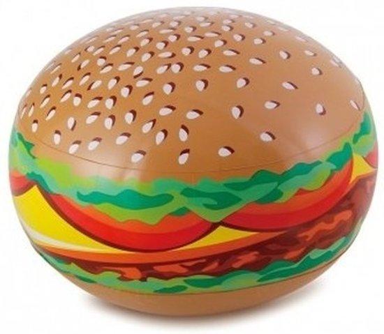 Opblaasbare hamburger 61 cm - Buitenspeelgoed waterspeelgoed opblaasbaar