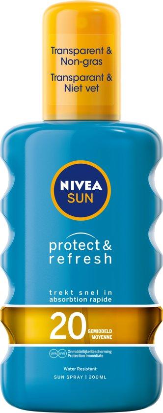 NIVEA SUN Zonnebrand - Protect & Refresh Transparante Zonnespray - SPF 20 - 200 ml