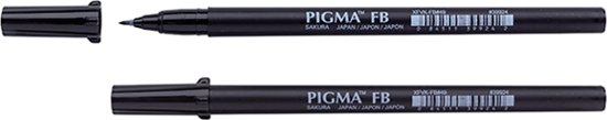Sakura Pigma Brush Pen fine zwart