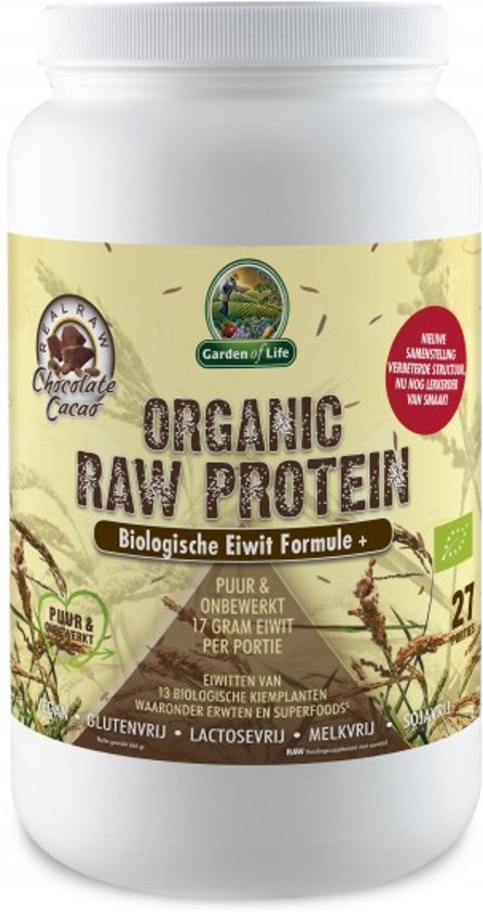Garden of Life Organic Raw Protein Chocolate