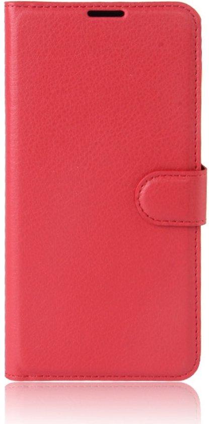Shop4 - Samsung Galaxy J5 (2017) Hoesje - Wallet Case Lychee Rood