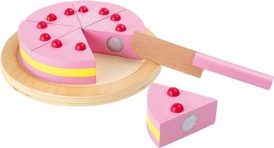 speelgoed taart hout