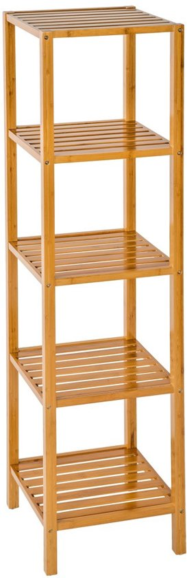 Houten badkamerrek 5 etages van bamboe 401646