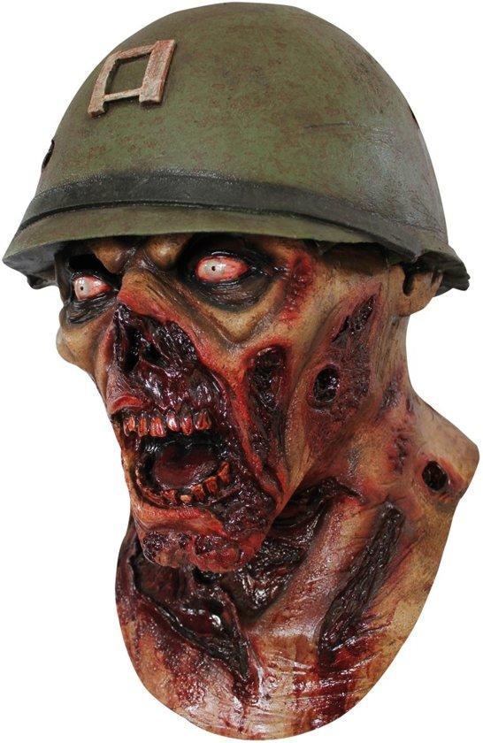 """""""Masker van een zombiesoldaat voor volwassenen Halloween - Verkleedmasker - One size"""""""