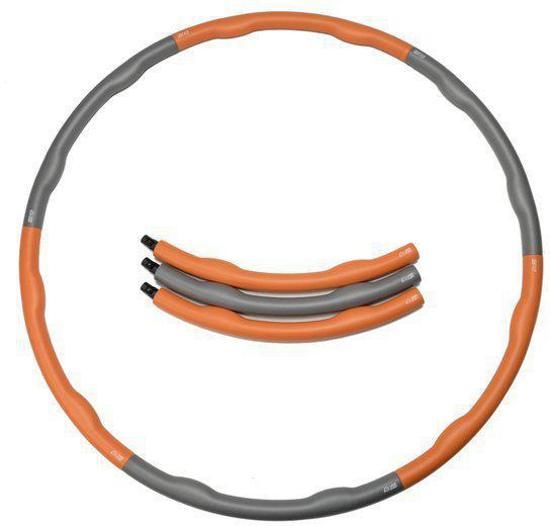 Weight hoop Original - Fitness Hoelahoep - Met DVD - 1.8 kg - Ø 100 cm - Oranje/Grijs