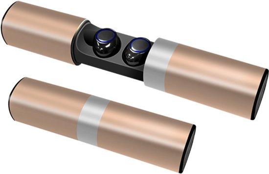 QY Bluetooth TWS In-ear Draadloze Koptelefoon VS-2 / Headset / Oordopjes / Oortjes / Hoofdtelefoon / Oortelefoon / Headphones - Geschikt voor Hardloop & Sport - Draadloos / Wireless Bereik Tot 10 Meter! – Gold