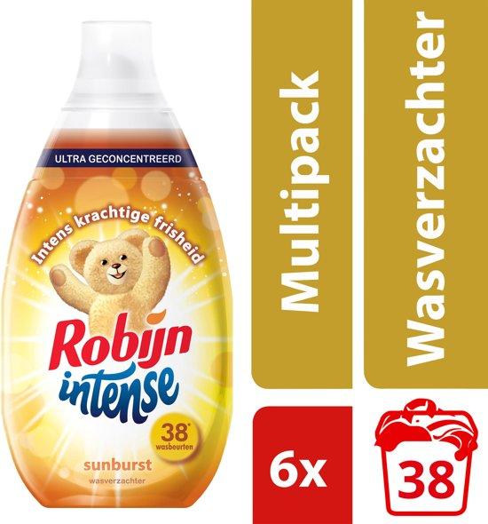 c8f6d2a62b8 Robijn Intense Sunburst Wasverzachter - 228 wasbeurten - 6 x 570 ml