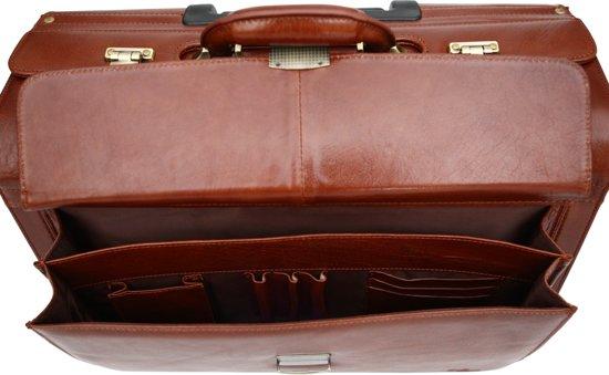 Elegante Van 92771 Cg Volrundleer Cognac Trolley Bruin Hoogwaardig Pilotenkoffer babila S tZxIqwpfp